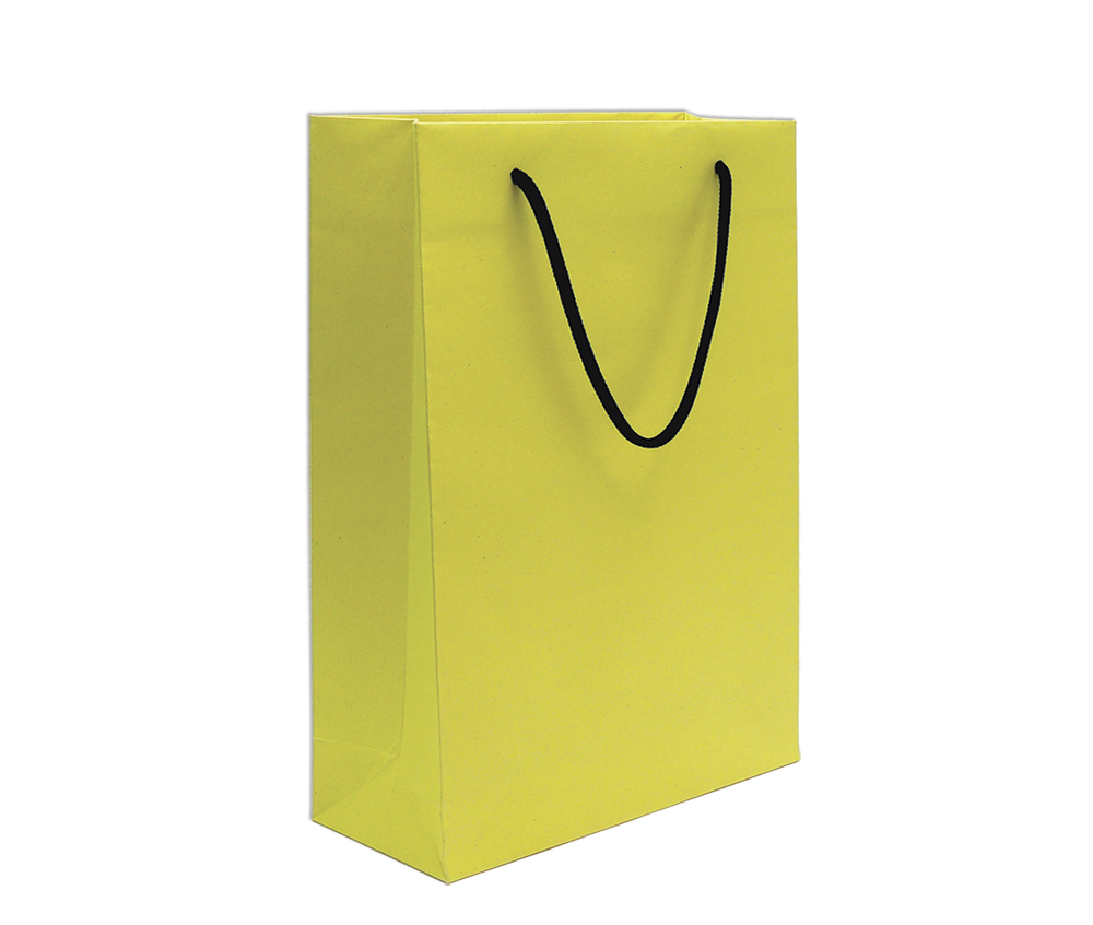 Paper bag yellow - Download Image Of Product Paper Bag Brilliant Piccolo Yellow 10pcs In Rgb